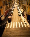 Calle urbana con los coches Fotografía de archivo libre de regalías