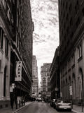 Calle urbana del PA de Philadelphia de la ciudad de centro céntrica Foto de archivo