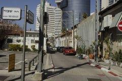 Calle urbana en Tel Aviv Imágenes de archivo libres de regalías