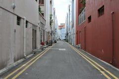 Calle vacía del centro urbano Imagen de archivo