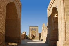 Calle vacía en la ciudad antigua de Chor-Bakr Imágenes de archivo libres de regalías