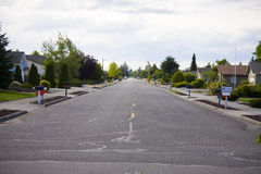 Calle vacía Fotos de archivo