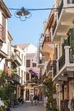 Calle vieja Chania de la ciudad Imagen de archivo libre de regalías