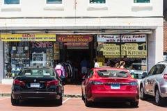 Calle vieja 7 de Annapolis Imágenes de archivo libres de regalías