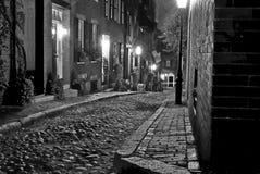 Calle vieja de Boston Imagen de archivo libre de regalías