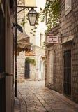 Calle vieja de Budva Fotografía de archivo libre de regalías