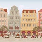 Calle vieja de la ciudad Foto de archivo libre de regalías