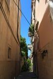 Calle vieja de la ciudad de Korcula Fotografía de archivo libre de regalías