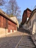 Calle vieja de la ciudad de Zurich Imágenes de archivo libres de regalías