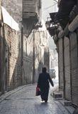 Calle en Alepo Siria fotos de archivo