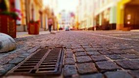 Calle vieja de la ciudad en colores retros Fotografía de archivo libre de regalías