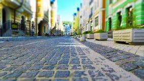 Calle vieja de la ciudad en colores retros Imagen de archivo