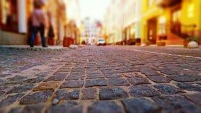 Calle vieja de la ciudad en colores retros Imagen de archivo libre de regalías