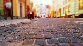 Calle vieja de la ciudad en colores retros Imagenes de archivo