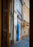 Calle vieja de la ciudad en Viena, Austria, Europa Imagenes de archivo