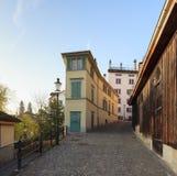 Calle vieja de la ciudad en Zurich Fotos de archivo libres de regalías