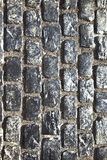 Calle vieja de la piedra del adoquín Imagen de archivo