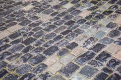 Calle vieja de la piedra del adoquín Foto de archivo