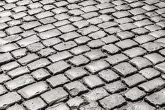 Calle vieja de la piedra del adoquín Fotografía de archivo