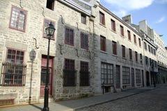 Calle vieja de Montreal fotos de archivo