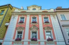 Calle vieja de Praga Imagenes de archivo