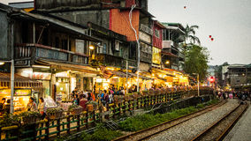Calle vieja de Shihfen Imágenes de archivo libres de regalías