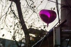 Calle vieja del globo del corazón Fotos de archivo