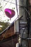 Calle vieja del globo del corazón Foto de archivo libre de regalías