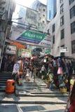 Calle vieja en Hong Kong Foto de archivo libre de regalías