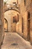 Calle vieja en Jerusalén, Israel. Fotografía de archivo