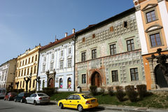 Calle vieja en Levoca Fotos de archivo libres de regalías