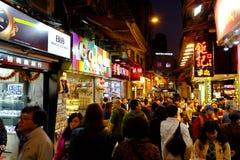 Calle vieja en macau Fotos de archivo