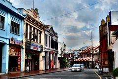 Calle vieja en Melaka Imagen de archivo libre de regalías
