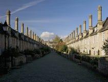 Calle vieja en receptores de papel Foto de archivo