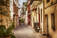 Calle vieja encantadora de Chania Fotos de archivo