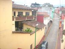 Calle vieja México镇街道 免版税库存图片