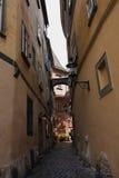 Calle vieja peatonal Fotografía de archivo libre de regalías