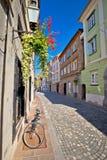 Calle vieja romántica de Ljubljana Fotos de archivo libres de regalías