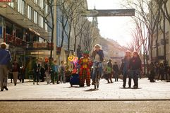 Calle Viena de las compras imagenes de archivo