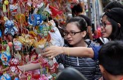 Calle vietnamita de la linterna, mediados de festival del otoño Imagen de archivo