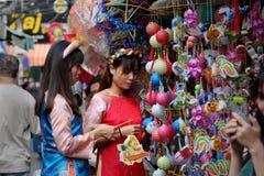 Calle vietnamita de la linterna, mediados de festival del otoño Imagenes de archivo