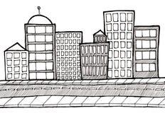 Calle y acera del paisaje urbano