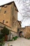 Calle y arquitectura en Valdemossa, vista lateral de Mallorca españa imagenes de archivo