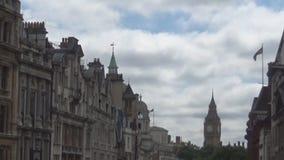 Calle y Big Ben almacen de metraje de vídeo