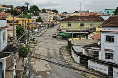 Calle y casas de una clase media más baja Imágenes de archivo libres de regalías