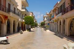 Calle Zakynthos, Grecia Fotografía de archivo