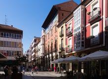 Calleburgemeester - hoofdstraat van Palencia stock afbeeldingen