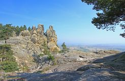 So called Devils Wall, Harz Mountains, Germany Royalty Free Stock Photos