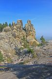 So called Devils Wall, Saxony-Anhalt, Germany. The Teufelsmauer (Devil's Wall) at (because of the shape of the rocks) so-called Hamburg coat of arms at royalty free stock photo