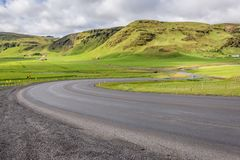 Route 1 in Iceland. So called Ring Road, main road in Iceland near Vik town stock photos